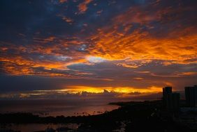 sunset Hawaii landscape