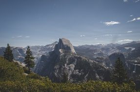 scene yosemite half dome california