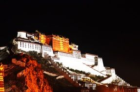 tibet lhasa night view