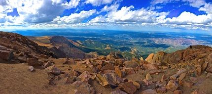 pikes peak mountain sky colorado scenic landscape