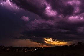 purple dark thunderclouds