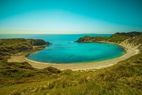 united states of america lulworth cove blue ocean of the sea