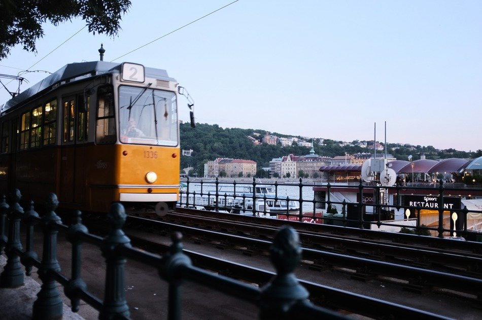 Old tram in Budapest