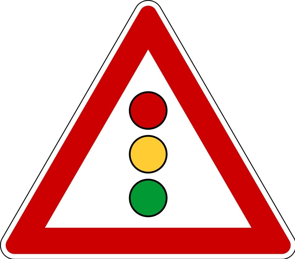 traffic sign with traffic light