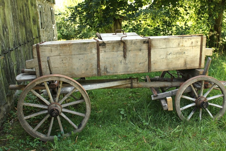 Loader wagons on the farm