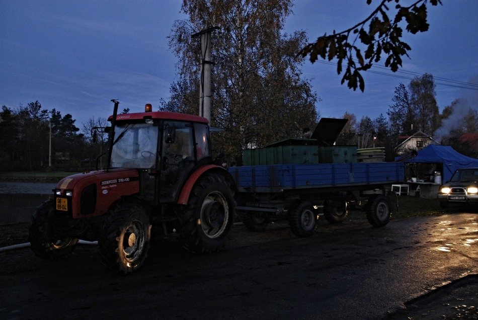Tractor in the morning