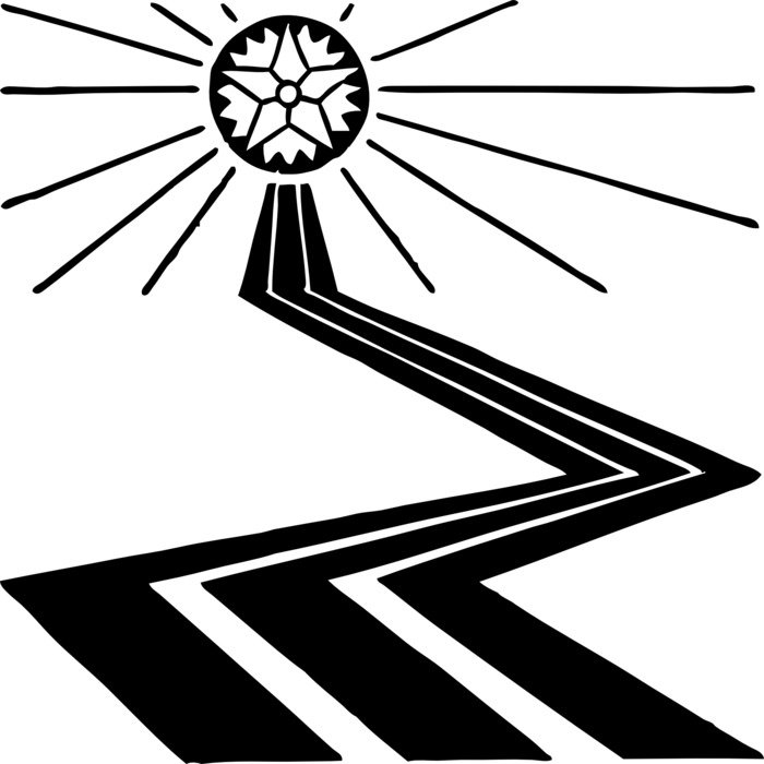Black and white road clipart