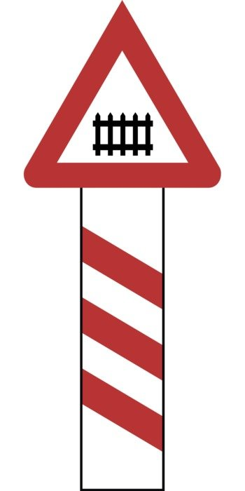 symbol of railway crossing