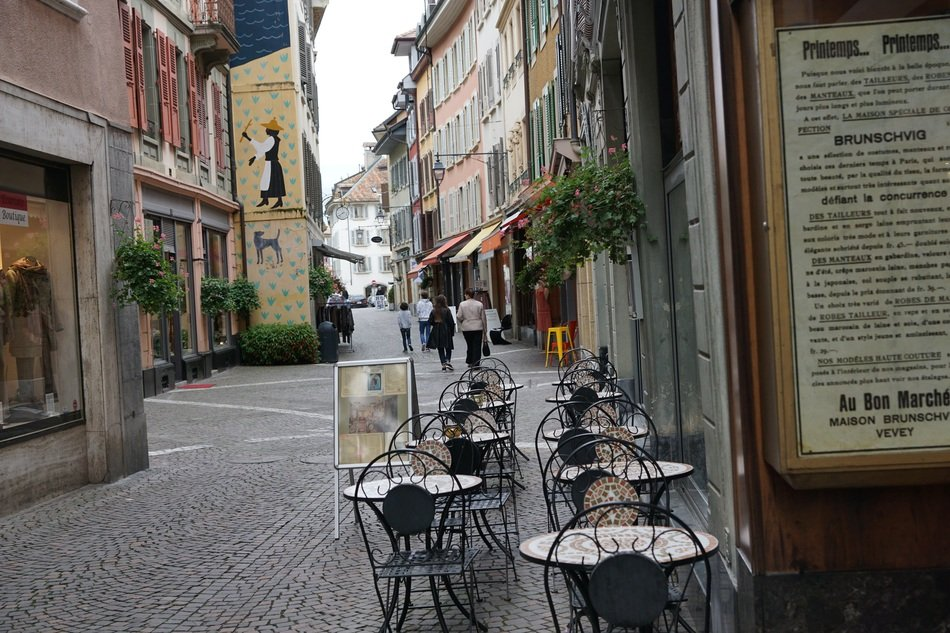 street cafe in the historic city