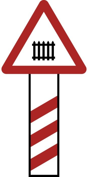 sign of crossing railway