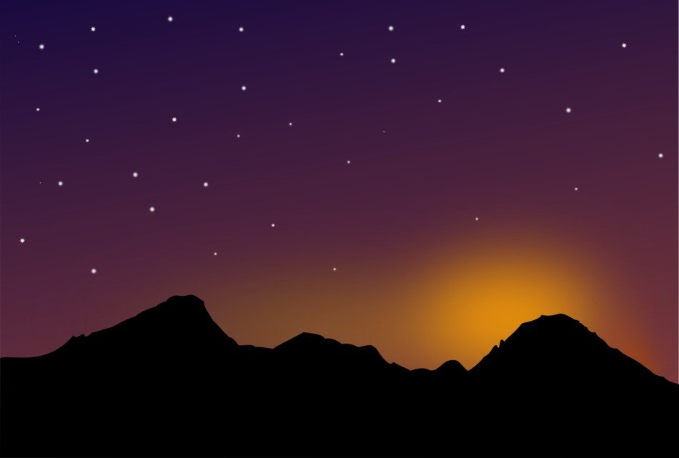 Starlit mountains