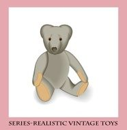 Soft toy teddy bear style Series-Realistic vintage toys N2