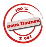 100 neue Daunen - new down feather in german