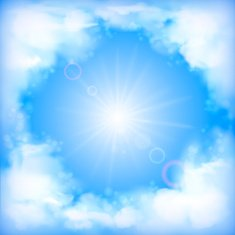 Sky vector design white clouds sun blur