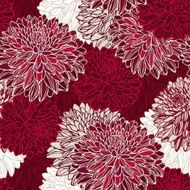 Seamless pattern with decorative flowers N22