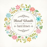 Floral Wreath Hand Drawn N2