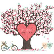 Wedding Invitation Love Tree- Illustration N2