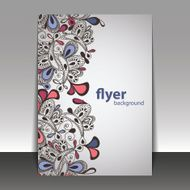 Hand Drawn Floral Pattern - Flyer or Cover Design Template N2