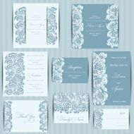 Set of Wedding invitation cards N3