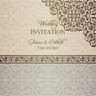 Baroque wedding invitation patina N2