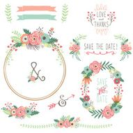Vintage Flower Wreath- illustration