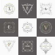 Vector Set Vintage Frames and Banners Calligraphic Design Elements