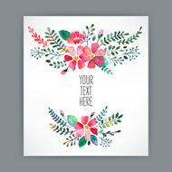 greeting card with watercolor flowers - 4 N2