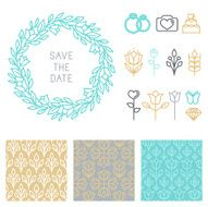 Vector save the date design template N2
