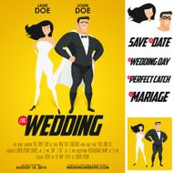 Funny super hero movie poster wedding invitation N2