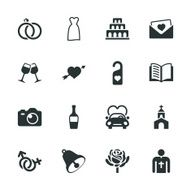 Wedding Silhouette Icons N2