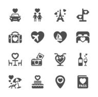 valentine and honeymoon icon set vector eps10 N2