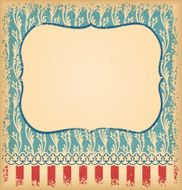Retro unusual vintage background with ornament N2