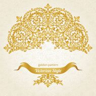 Vector ornate pattern in Victorian style N6