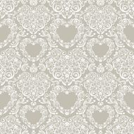Lacy Hearts Seamless Pattern N2