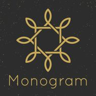 Minimal graceful monogram design templates