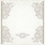 light floral frame on paisley background with place for your N3