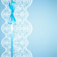 lace on blue background N2