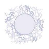 Spring background wreath with leaves Round banner for text Vector