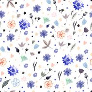 Watercolor floral pattern N63