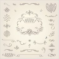 Calligraphic Design Elements N384