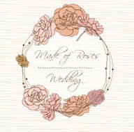 Invitation card with flower vector illustration N2