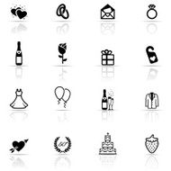 Icon Set Wedding