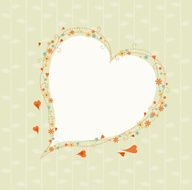 Decorative heart border N2