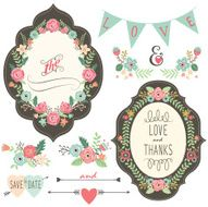 Vintage Wedding Flora Frame- illustration