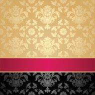 Seamless pattern floral decorative background pink ribbon