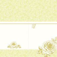 Invitation card with roses N6
