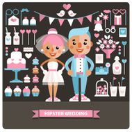 Set of Wedding icons and characters N2