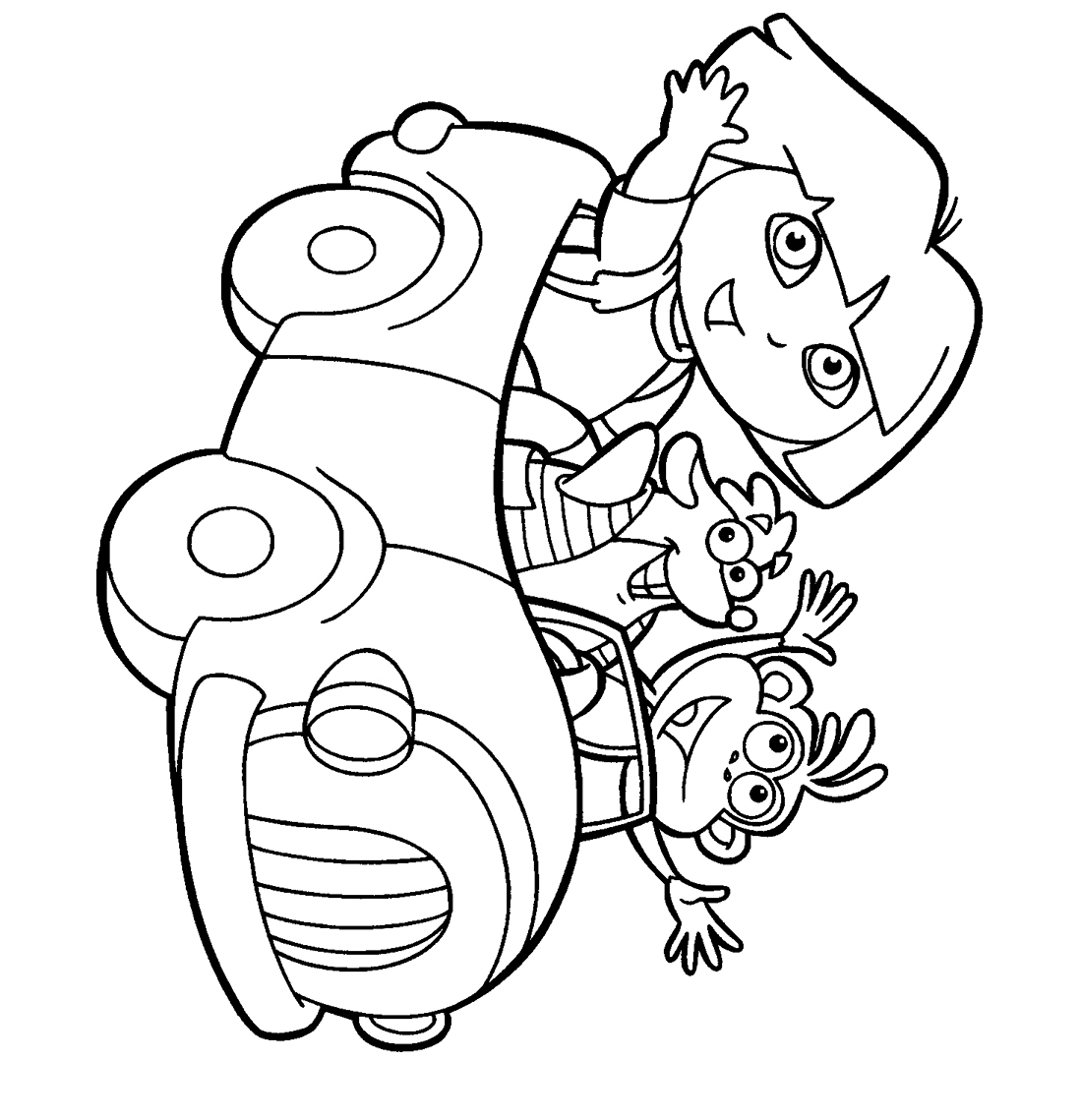- Dora Colouring Pictures Drawing Free Image
