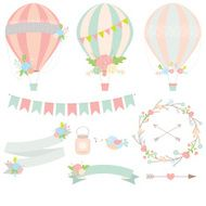 Vintage floral hot air balloon N2