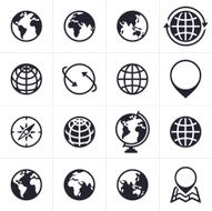 Globes Icons and Symbols N2